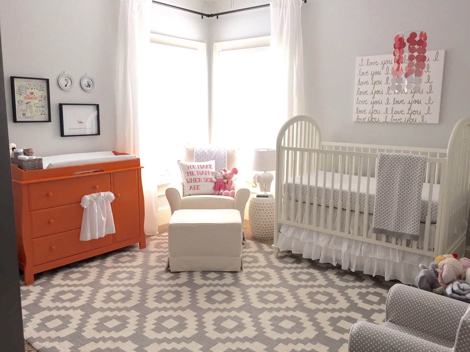Everyday Loveliness Nursery Reveal Grey White Gold