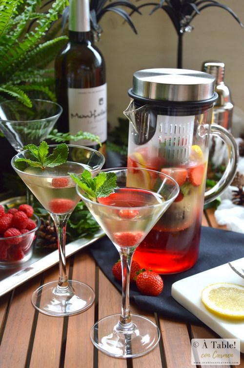 Coctel-Vino Blanco-Hibiscus-Frutos Rojos