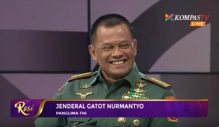 Jenderal Gatot Nurmantyo di Acara Rosi (Kompas TV)