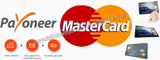 شرح الحصول بطاقة ماستر كارد و كيفية التسجيل في payoneer + هدية 25 دولار