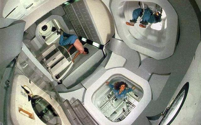 Space Station Freedom interior resources
