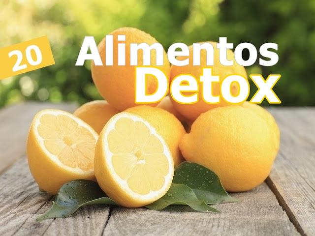 20 alimentos Detox para seu corpo e mente