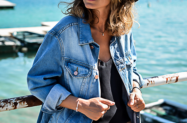 Veste en jean coupe girlfriend asos