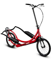 ElliptiGO 3C outdoor elliptical bike, with 3 speeds/gears to tackle mild hills up to 5% grade, ideal for leisure and town riding
