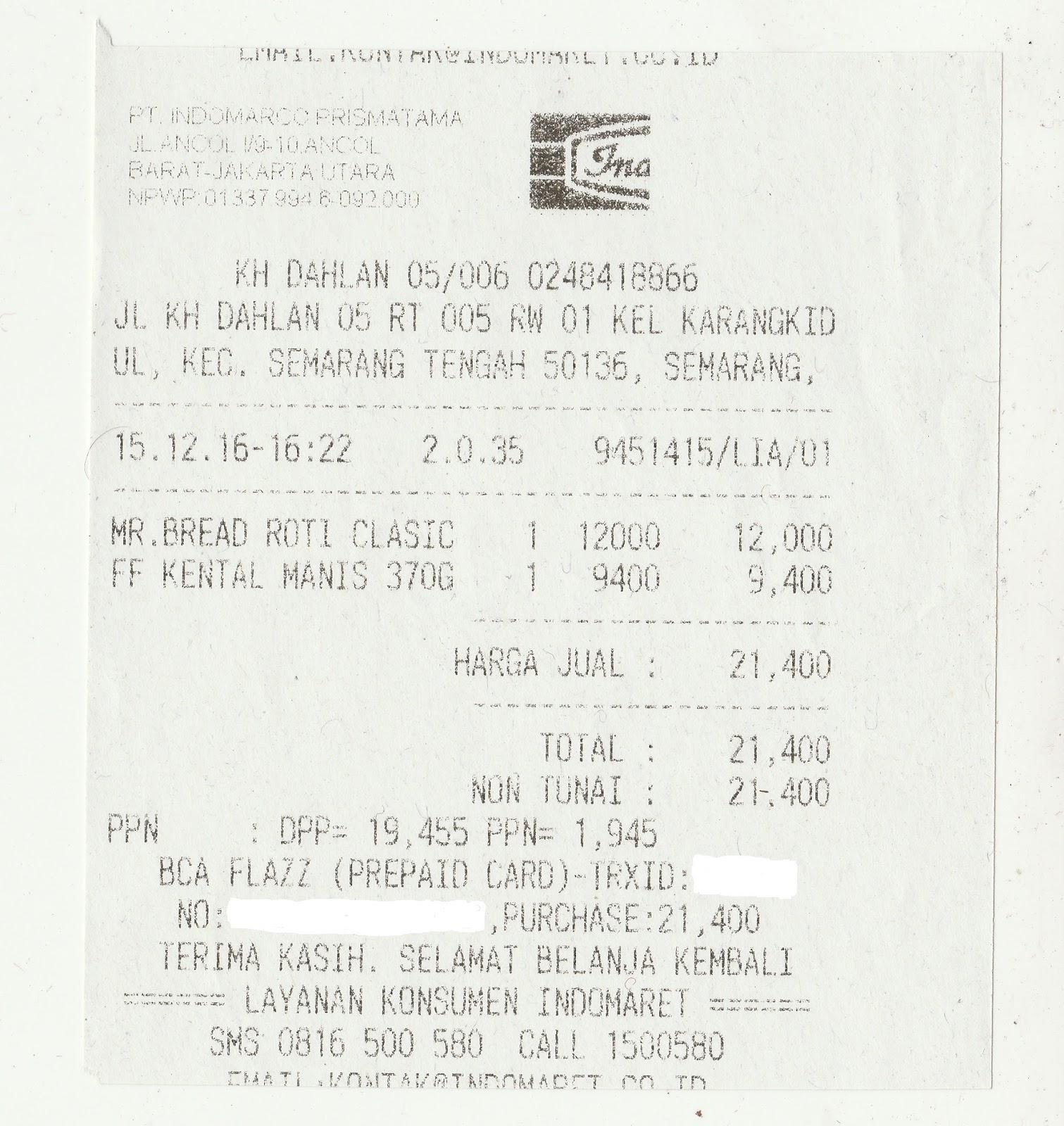 Pengalaman Menggunakan Flazz Bca Untuk Berbelanja Di Minimarket Baruu Voucher Card Indomaret Berikut Bukti Pembayarannya