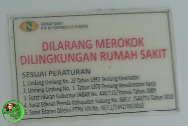 Rumah Sakit PTPN VIII - Kawasan Tanpa Rokok