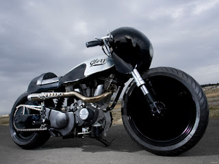 glory buell xb9 drag and cafe by hide motorcycle side right