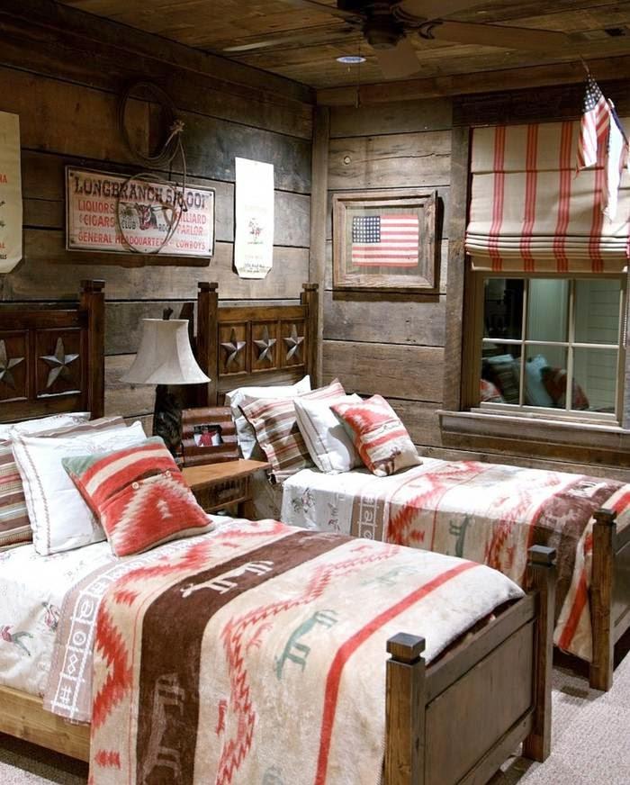 dormitorio infantil rústico