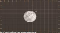 Półcieniowe zaćmienie Księżyca 31.01.2018, godz. 17:08 - położenie Księżyca nad horyzontem w końcowym momencie zjawiska w Jeleniej Górze