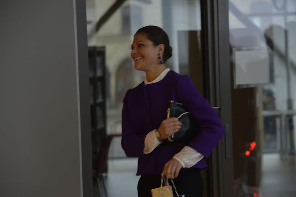 Crown Princess Victoria attended the inauguration of the new Power Plant in Varberg