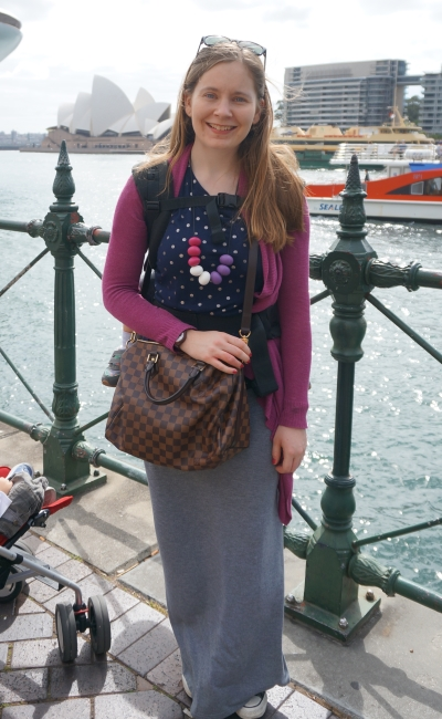 Targona zoo and ferry ride outfit babywearing Sydney Circular Quay Harbour | away from the blue