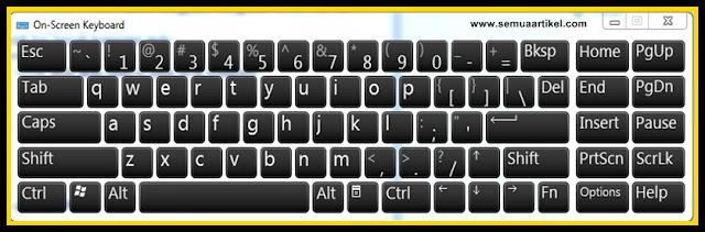 Cara menampilkan on screen keyboard windows
