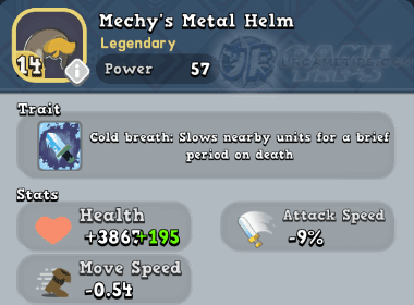 World of Legends Mechy's Metal Helm