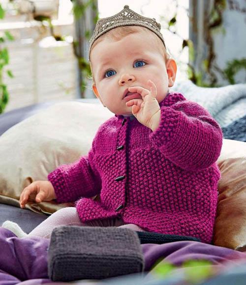 Girl's Cardigan - Free Knitting Pattern