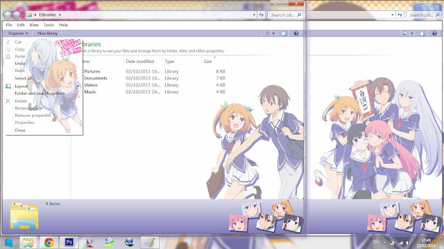 Windows 7 Theme Oreshura by Bashkara