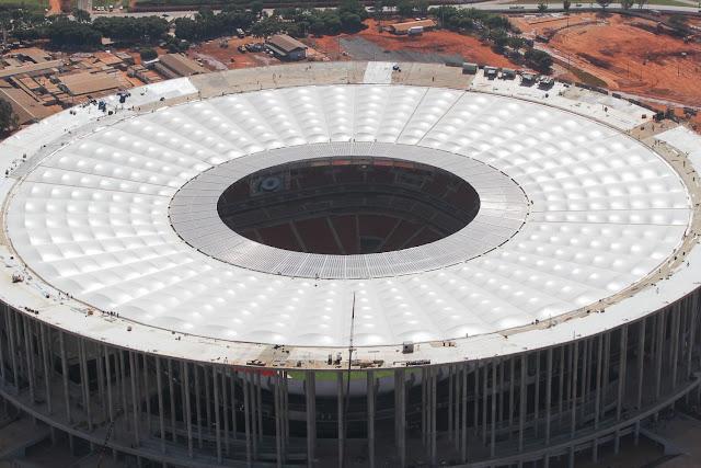 Cobertura do Estádio Nacional é projetada para aguentar 50 anos