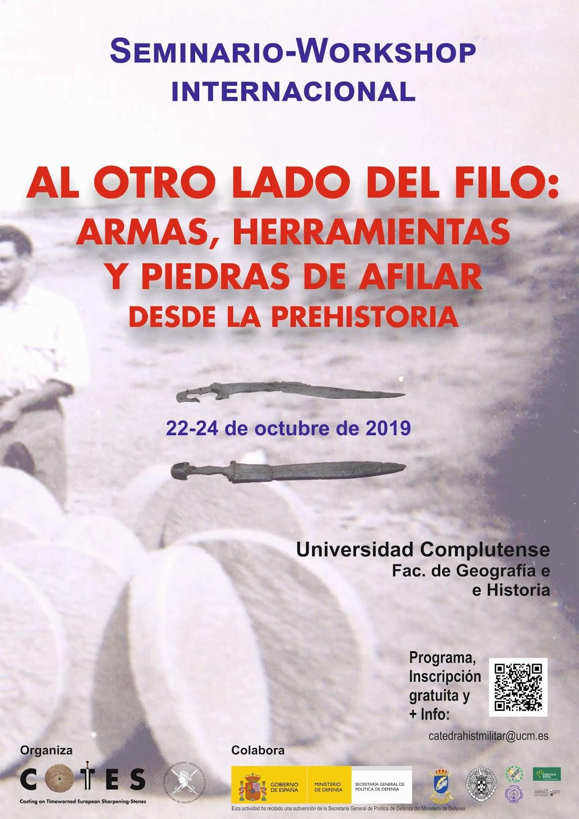 Seminario Internacional Al otro lado del filo. Armas, herramientas y piedras de afilar desde la Prehistoria
