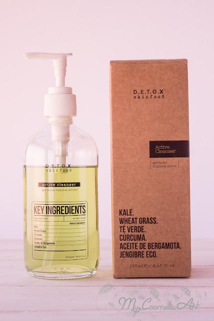 Limpieza facial con Detox Skinfood: gel limpiador