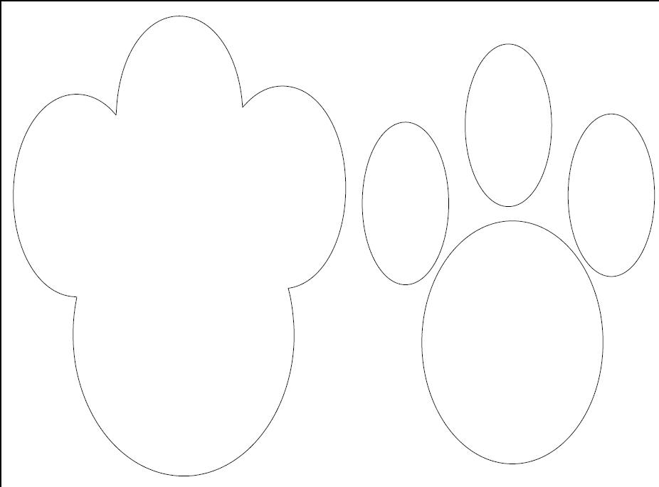 Bunny paw print the image kid has it for Bunny feet template printable