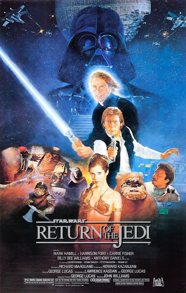 Poster of Star Wars Episode VI The Return of The Jedi 1983 Dual Audio 720p BluRay Hindi-English