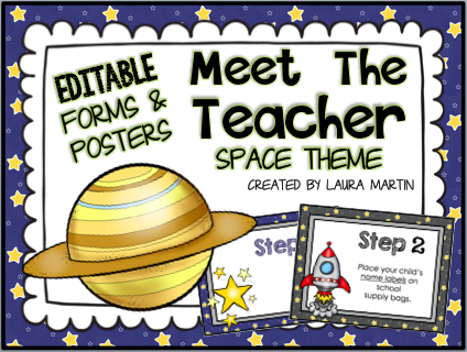 Space Back to School ideas for Meet the Teacher and Open House
