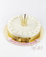 prinsessa kakku, valkosuklaamoussekakku