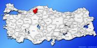 Karabük ilinin Türkiye haritasında gösterimi
