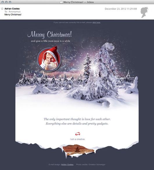 Christmas Newsletter Adrian A COSTEA Senior Media UI UX