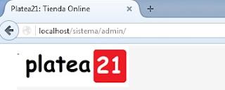 seccion admin Tienda online Gratis