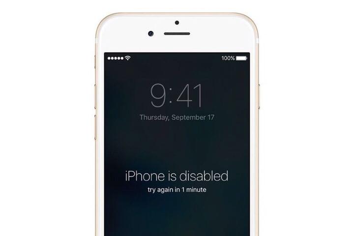 iPhone ini dinonaktifkan