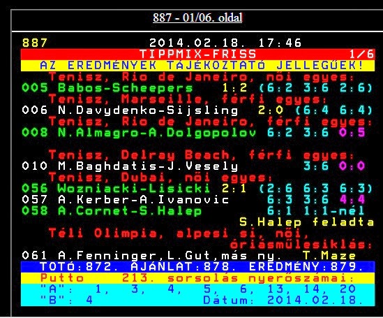 Tippmix: Teletext 887 tippmix