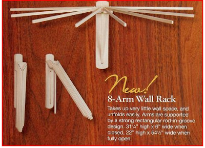 8-arm wall drying rack