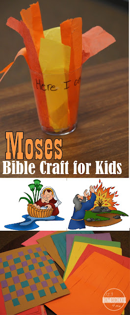 Moses Bible Craft for kids - perfect for sunday school lessons on baby moses in basket and moses and the burning bush for preschool, kindergarten, 1st grade, 2nd grade, 3rd grade. LOVE the tea light idea