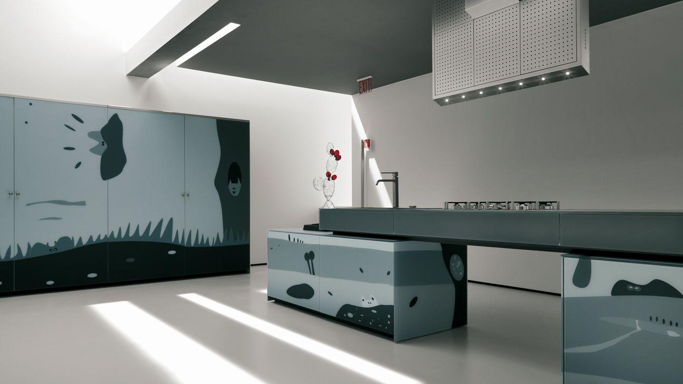 Cocinas con dise os art sticos en los frentes de cristal for Programa de diseno de muebles de cocina