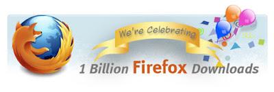 spanduk perayaan angka unduhan firefox 1 milyar