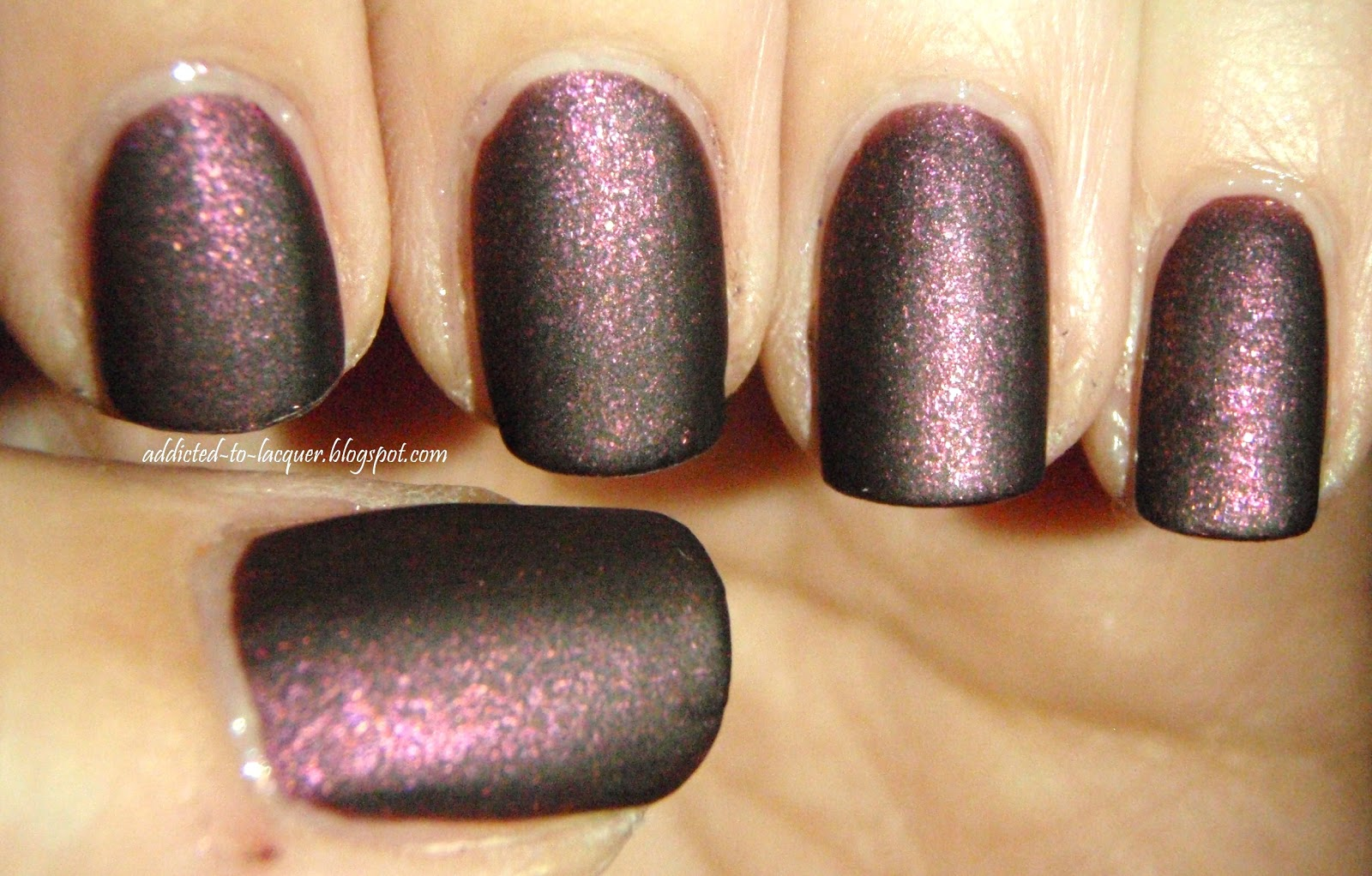 Matte Maroon Nail Polish Opi - To Bend Light