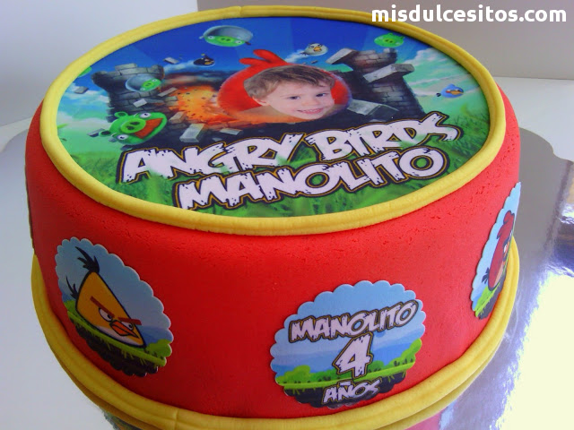 Tortas para cumpleaños infantiles. Venta de tortas Angry Birds en Lima