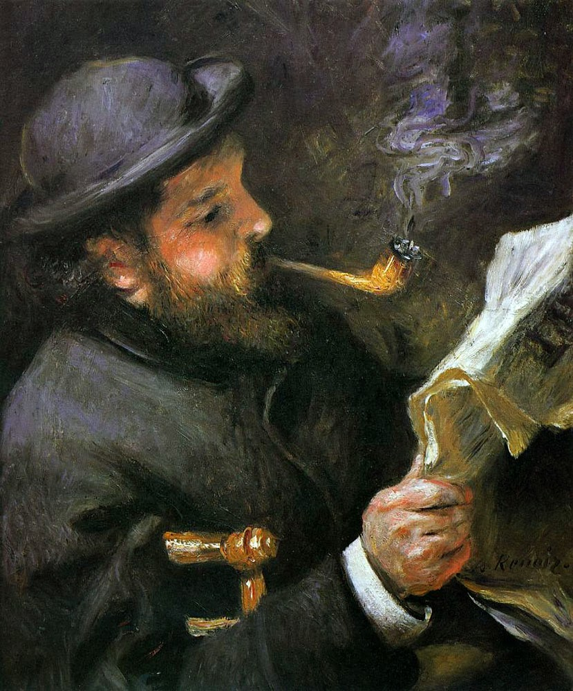 Pierre-Auguste Renoir - Claude Monet Reading