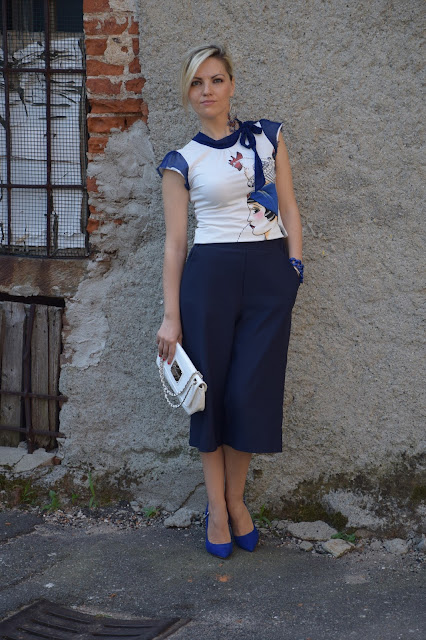 outfit blu come abbinare il blu abbinamenti blu blue outfit how to wear blue how to combine blue mariafelicia magno fashion blogger colorblock by felym outfit luglio 2016 outfit estivi summer outfits july outfits fashion blogger italiane fashion bloggers italy influencer italiane italian influencer
