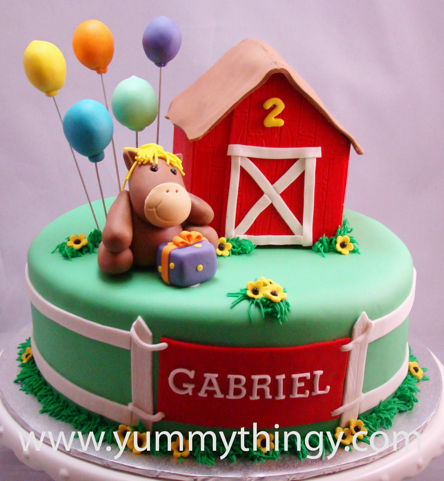Yummy Thingy Farm Theme Cake