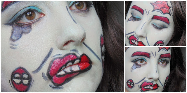 Halloween Makeup Look: Pop Art Zombie