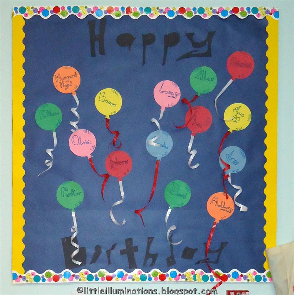 Birthday Bulletin Boards  sc 1 st  little illuminations & little illuminations: Back To School Bulletin Boards...Redux!