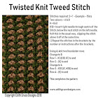 Twisted Tweed Knitting Stitch