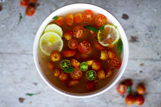 Garden Tomato Gaspacho Consommé - Acquired Life