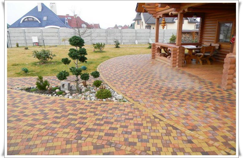 Тротуарная плитка камень