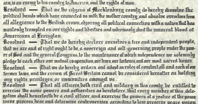 mecklenburg declaration