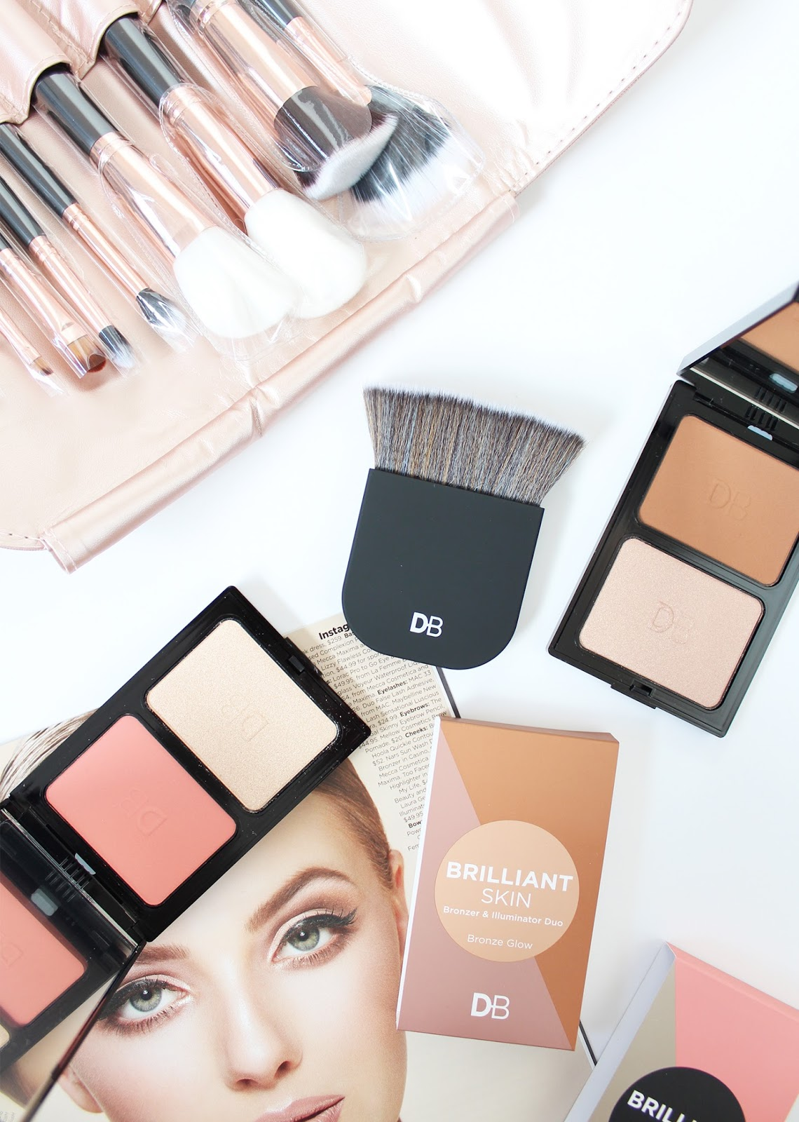 DESIGNER BRANDS | Rose Gold Brush Set + Brilliant Skin Palettes - CassandraMyee