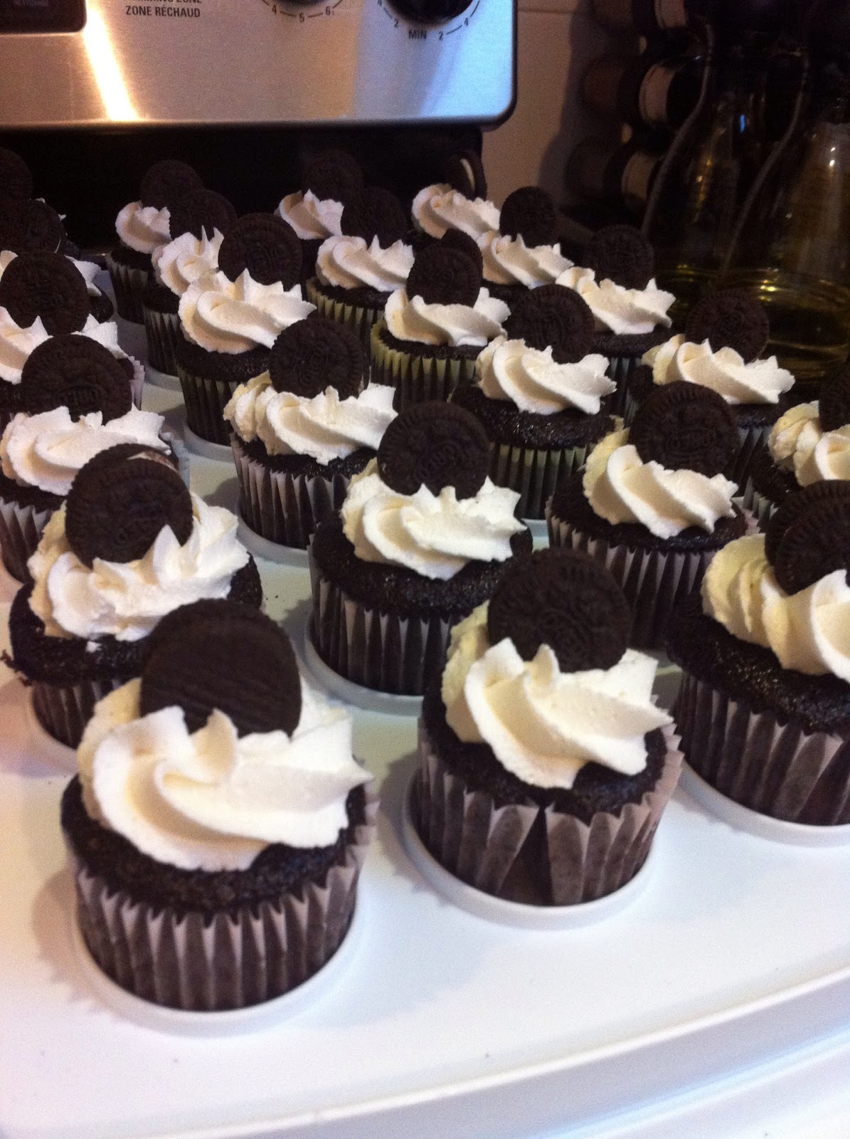 In Michelle S Kitchen Chocolate Oreo Cupcakes