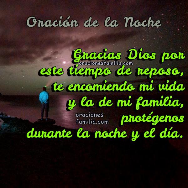 Frases, oraciones con imágenes para la noche, buenas noches, orar de noche por un buen descanso por Mery Bracho