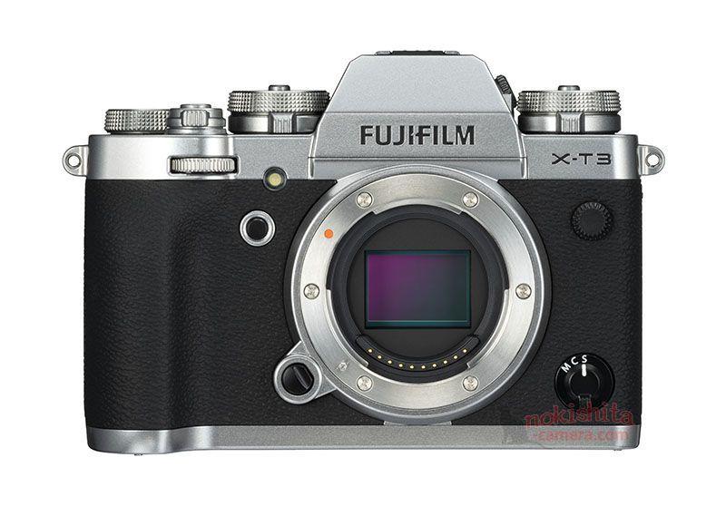 Fujifilm X-T3, вид спереди, серебристый